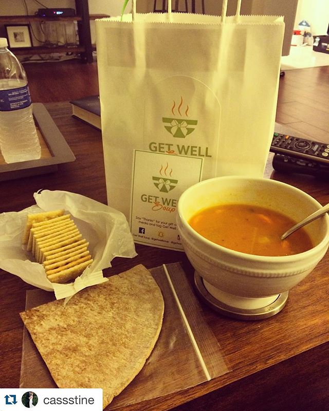 #Repost @cassstine ・・・ A delicious bowl of soup for dinner thx to Ben! @getwellsoup