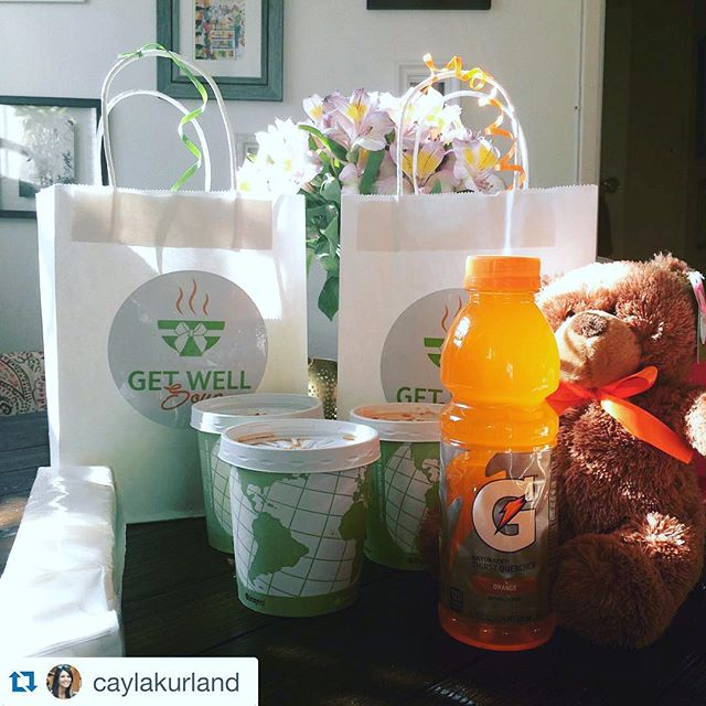 #Repost @caylakurland ・・・ Thanks Mom for sending #getwellsoup! I feel better already!  www.getwellsoup.com
