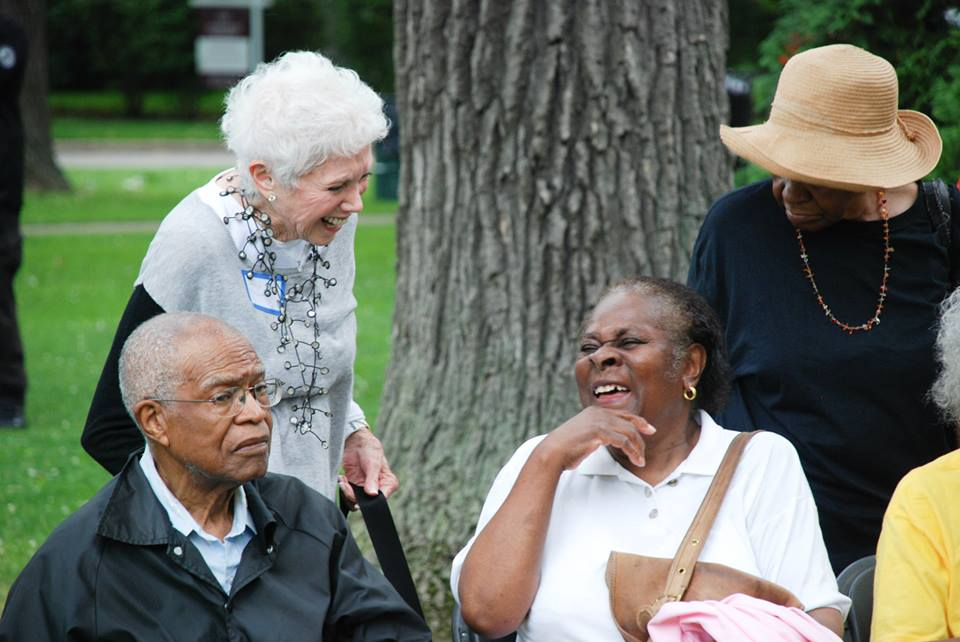Justice Day 2015 Reunion of Selma and North Shore Summer Project activists, on the Winnetka Village Green
