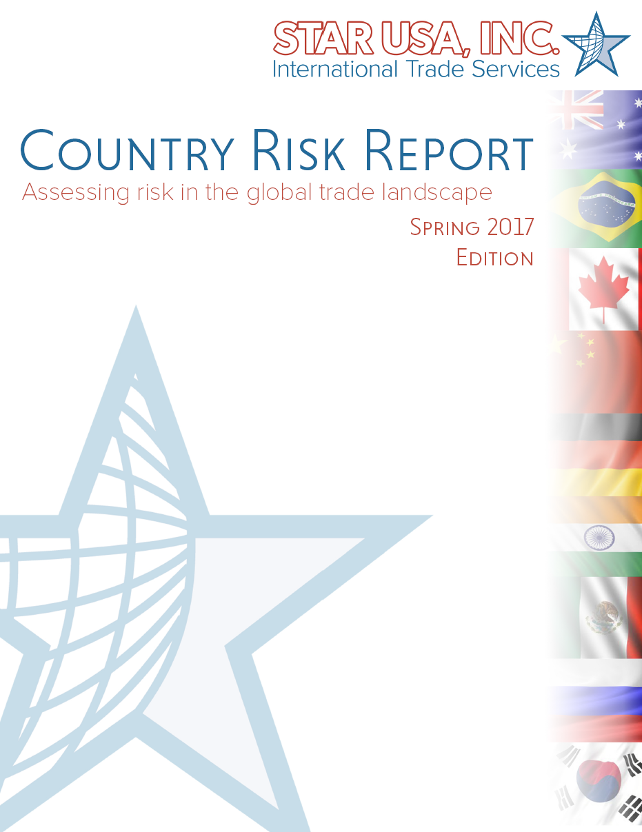Spring 2017 Country Risk Report An inside look into the facts & figures of the top 10 trading partners of the U.S.