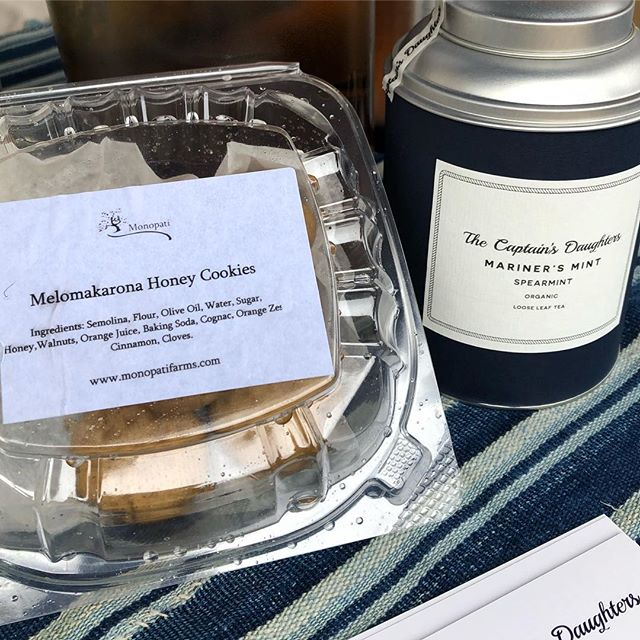 The perfect combination.... #monopati cookies and tea from @thecaptainsdaughters
