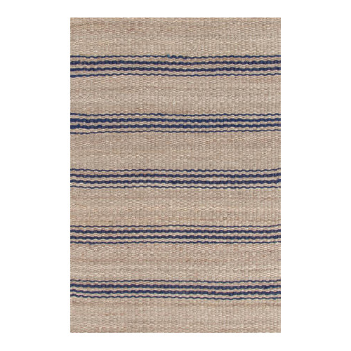 Jute Ticking Indigo Indoor Rug