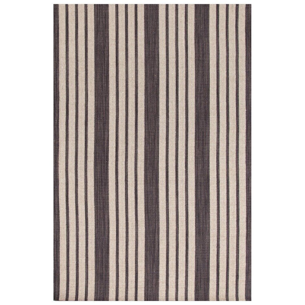 Lennox Stripe Charcoal Indoor Rug
