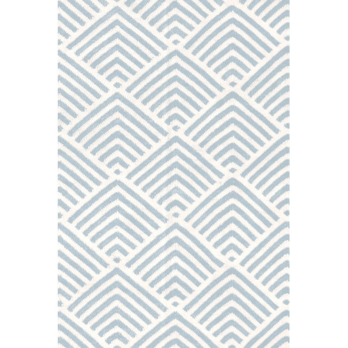 Cleo Graphic Light Blue Outdoor Rug