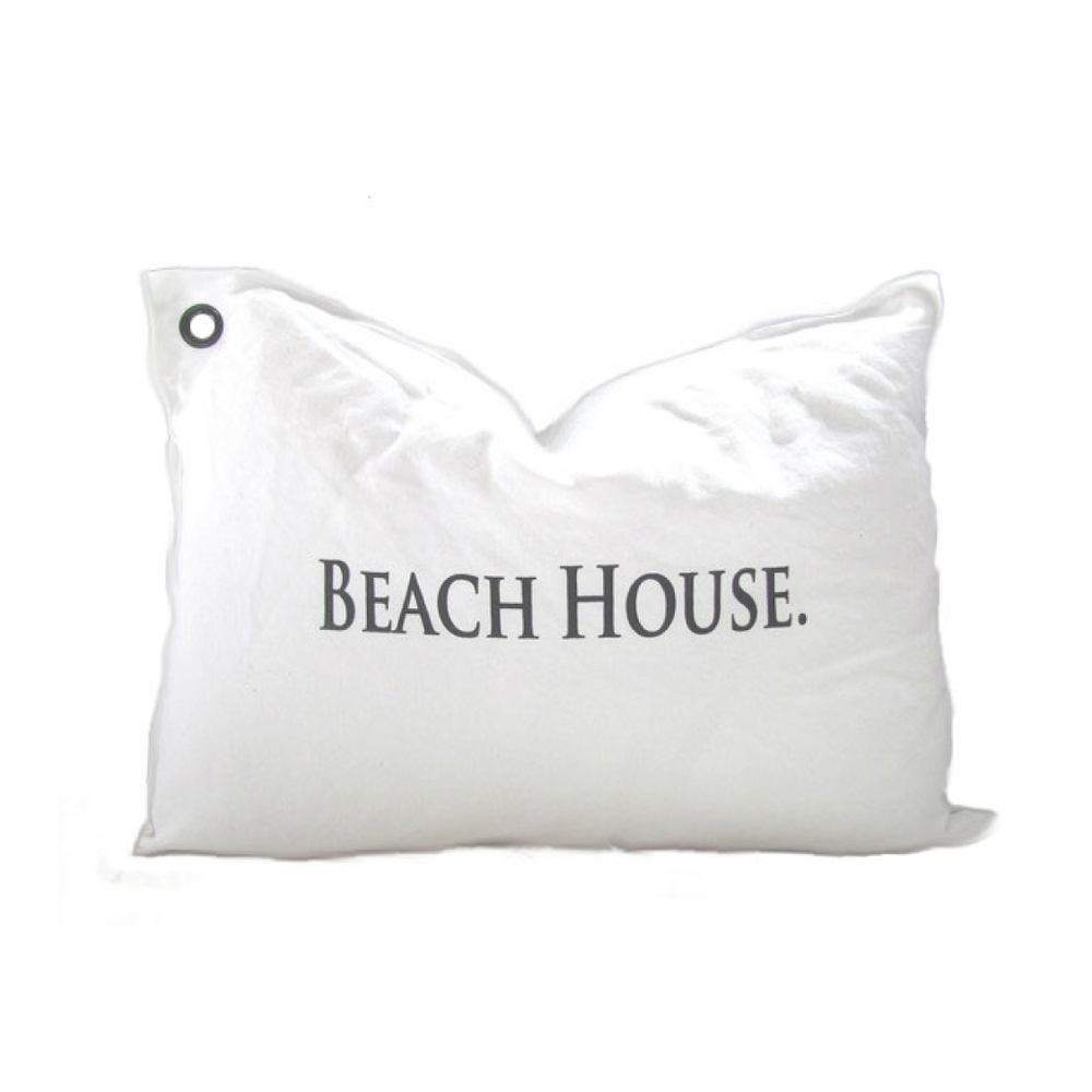 Beach House Canvas Pillow