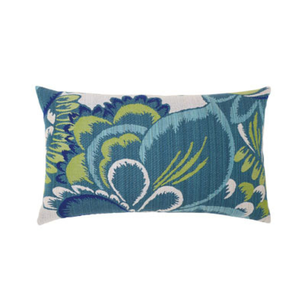 Floral Wave Outdoor Pillow