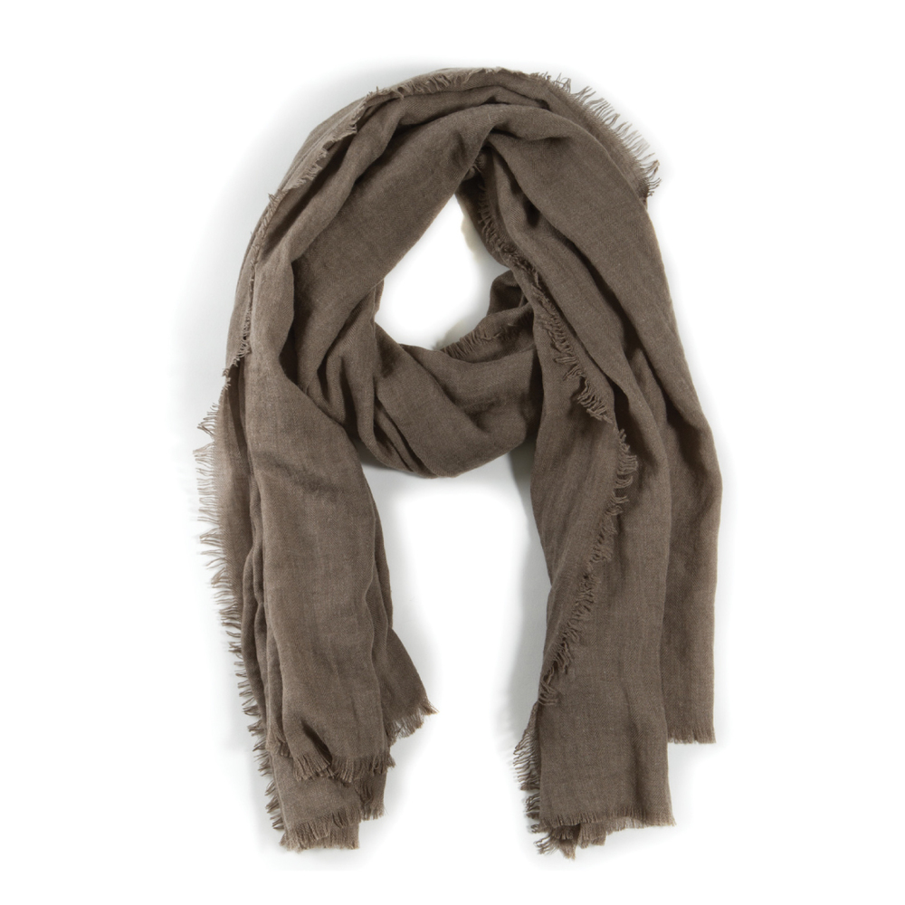 Frayed Linen Scarf, Assorted Colors