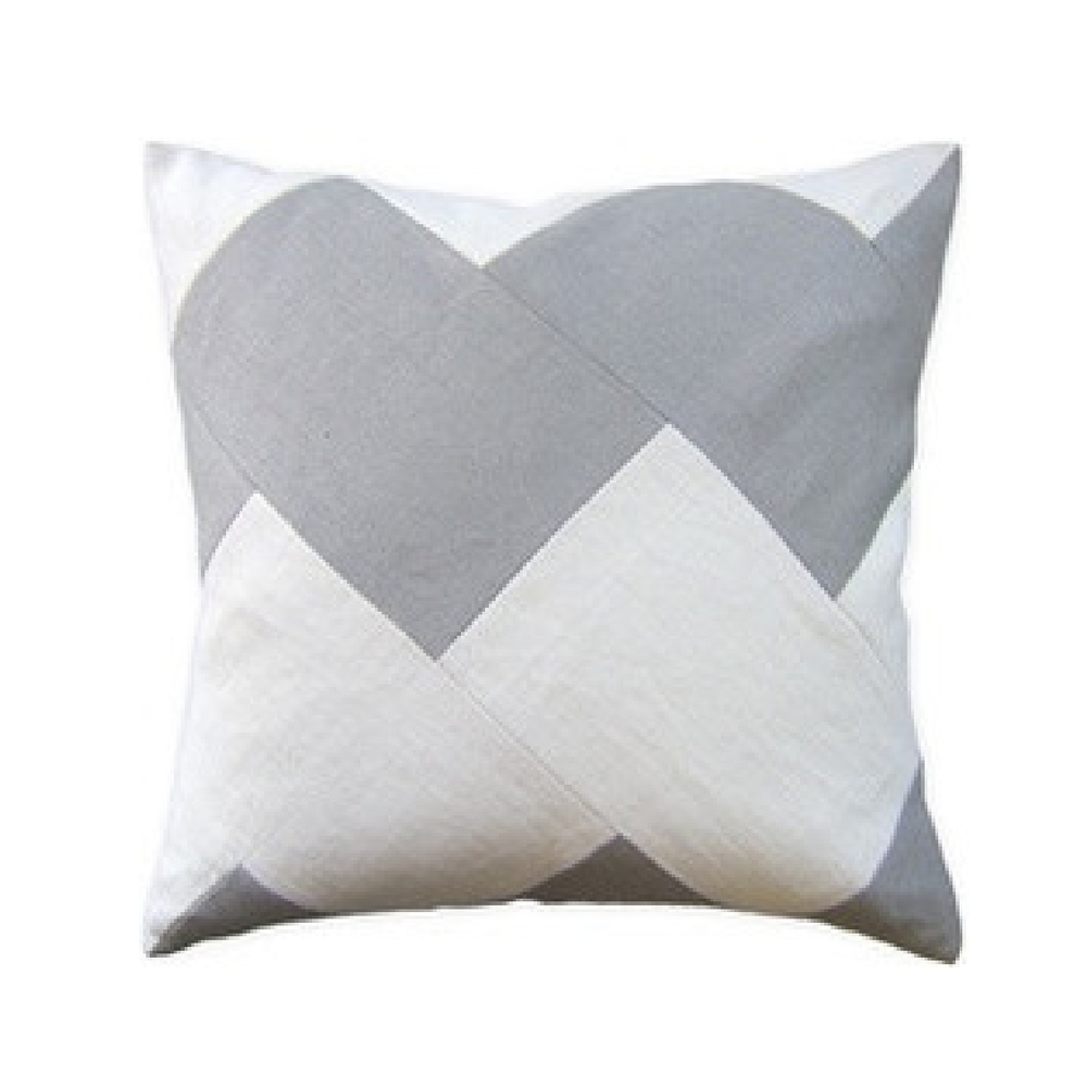 Slubby Linen Chevron Pillow
