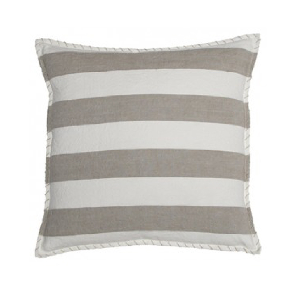 Marina Stripe Natural Linen Pillow