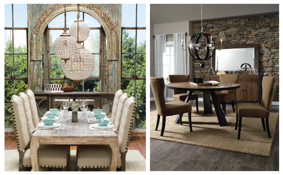 Rule Of Thumb: Circular Tables Feel Better In A Smaller Room And  Rectangular Or Square Tables Fill A Larger Room.