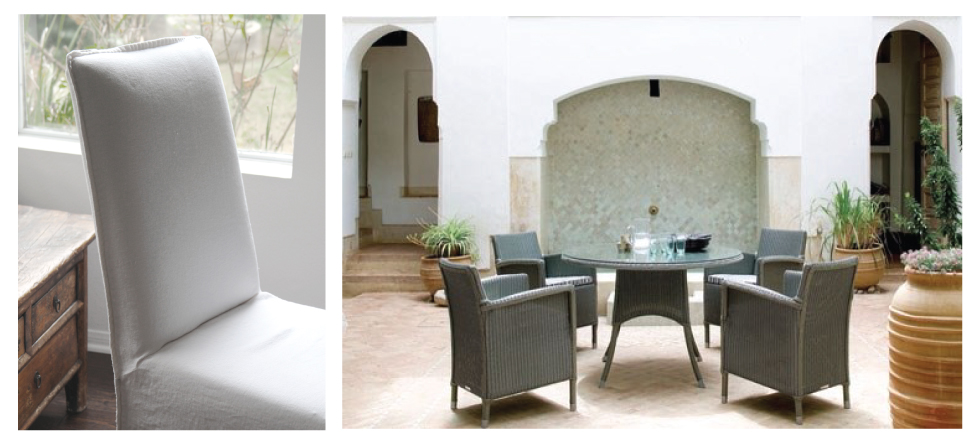 Wood Or Metal Chairs Are A Good Casual Option If You Have Children. We Also  Love Using Outdoor Furniture Inside, Like The Janus Et Cie Loom Collection,  ...