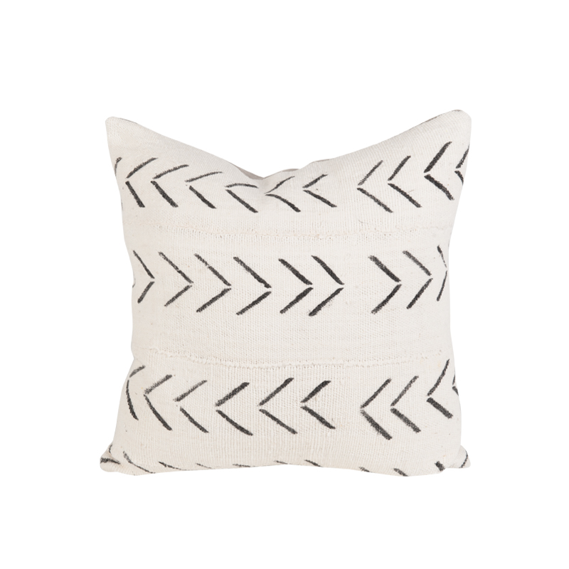 Ivory African Mudcloth Pillow