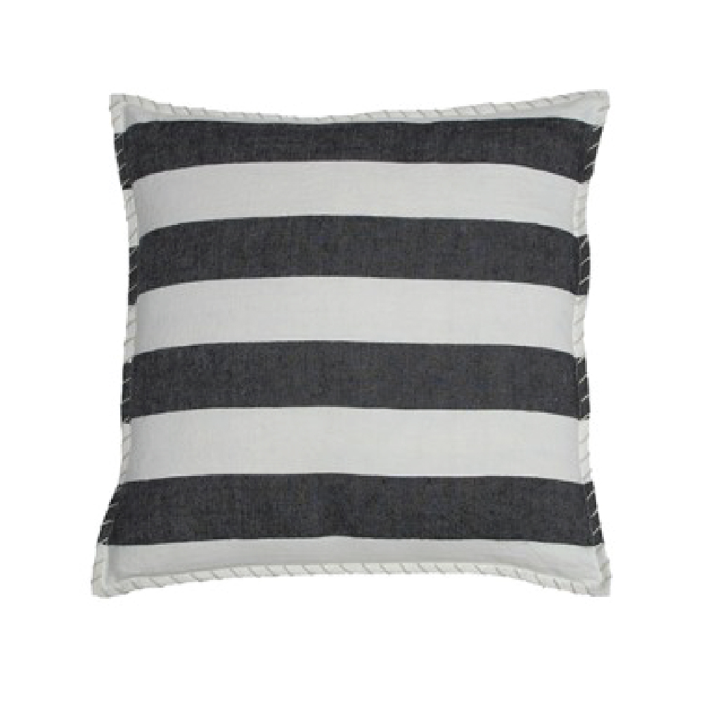 Black Linen Marina Stripe