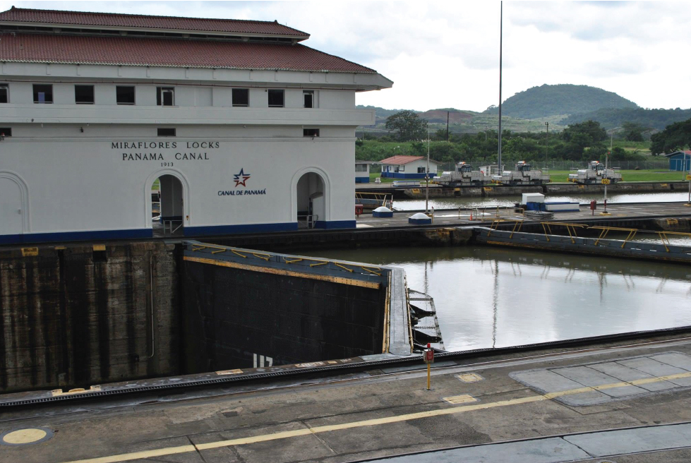 The historic Panama Canal- Miraflores locks
