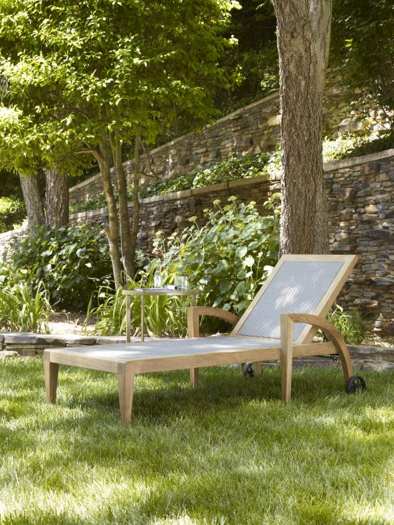 Century Furniture in collaboration with Candice Olson Luna Teak Chaise