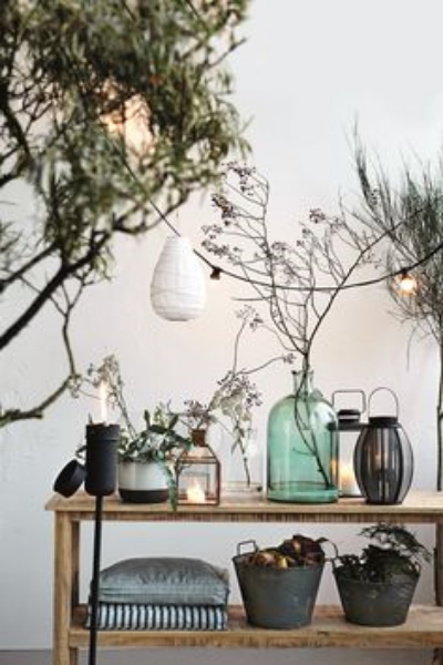 vignettes on a shelf -image via House Doctor