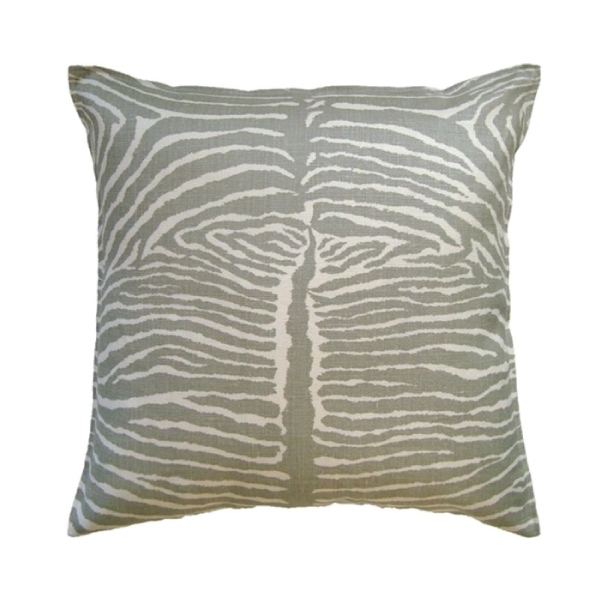 Pewter Le Zebre Pillow