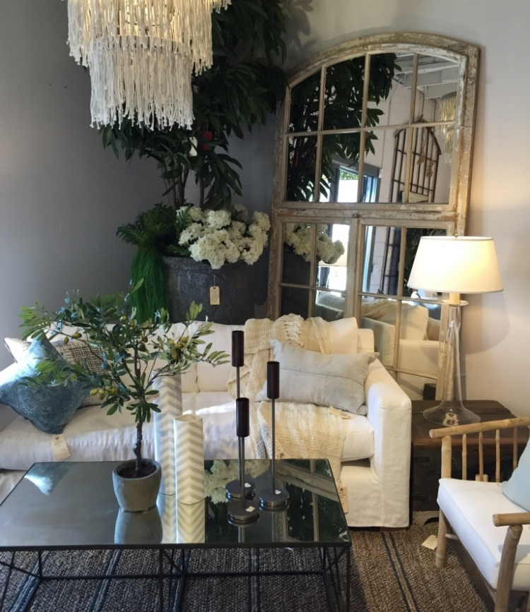 One of my favorite vignettes we did in Newport Beach featuring the Parisian Sofa by Klaene Gray, our exclusive in-house label.