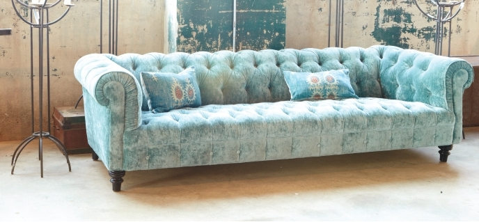 custom sofa at Gardenology