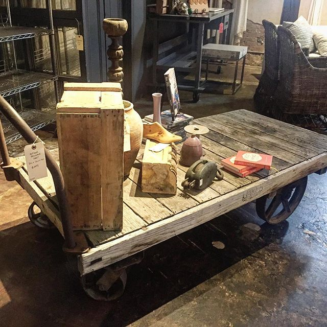 We're a little surprise this vintage baggage cart hasn't found a new home yet. Our sale has increased! Everything is now 30% off!