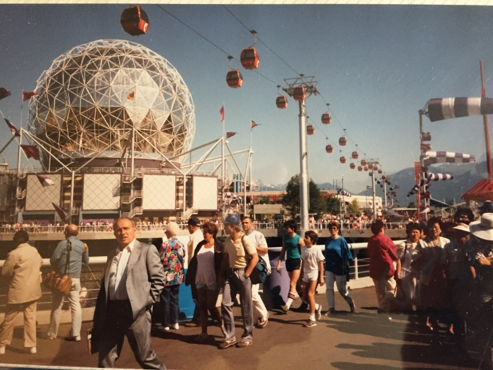 Yet another photo of Science World. For the record, I believe we've cleaned those carpets too.