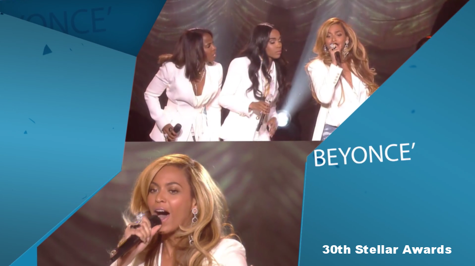 Beyonce Editing Stellar Awards