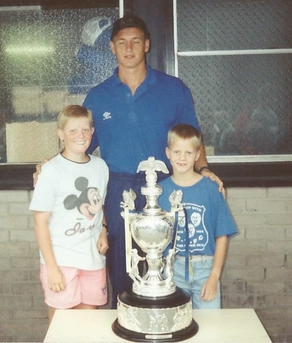 Me, my brother (James Holt) and Dave Walton