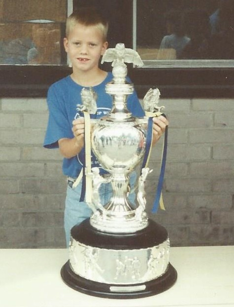 Me holding the Division Three Trophy in 1994