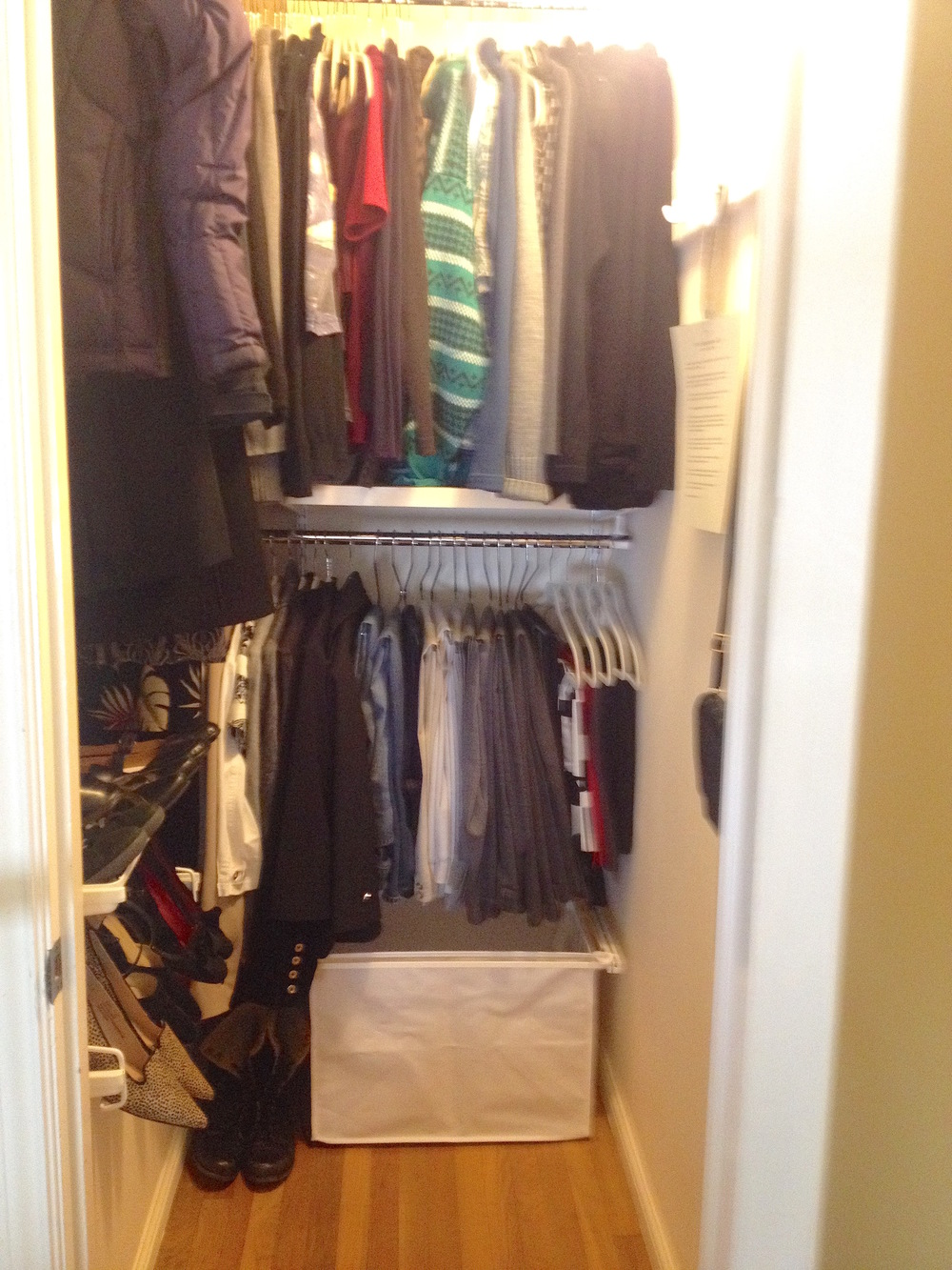 After : Small Closet