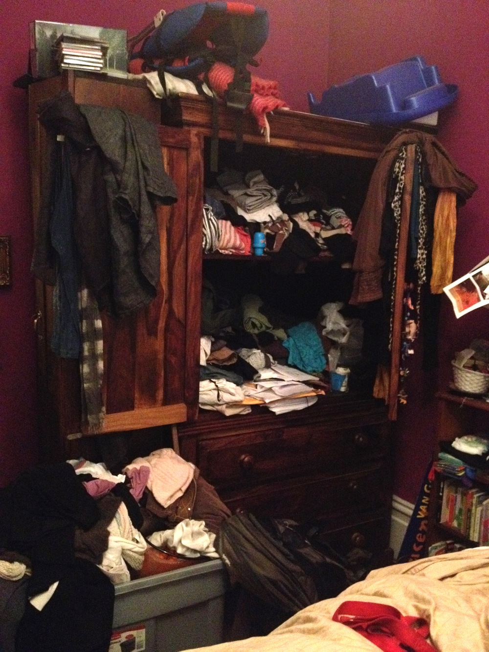 Before : Closet Armoire