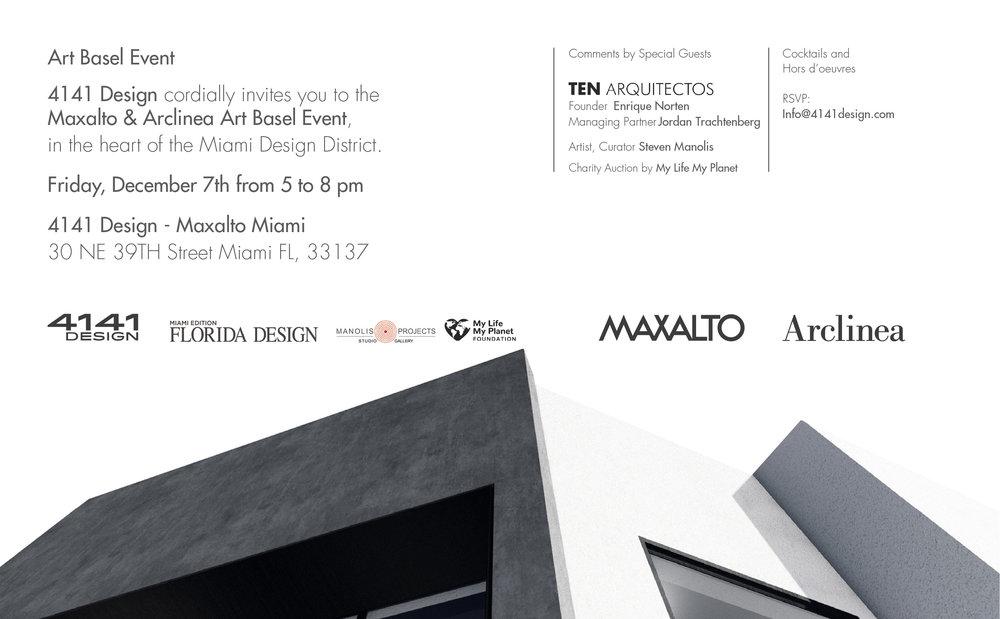 ART BASEL MAXALTO & ARCLINEA MIAMI INVITATION; SPECIAL GUEST TEN ARQUITECTOS.jpg