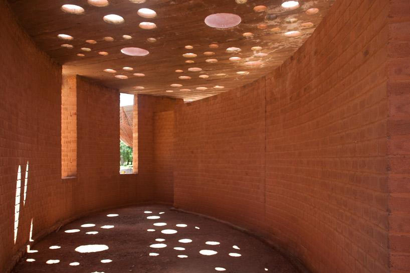 Inside the Gando Library by Francis Kéré