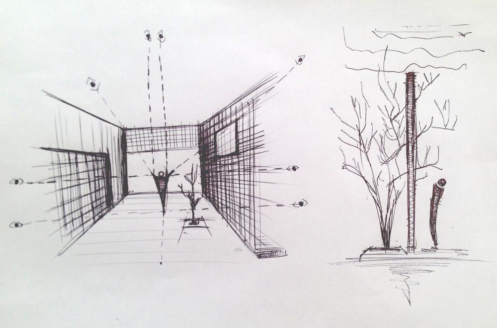 Infinita House, conceptual sketch  by Natura Futura Arquitectura | © José Gómez Curtesy of ArchDaily