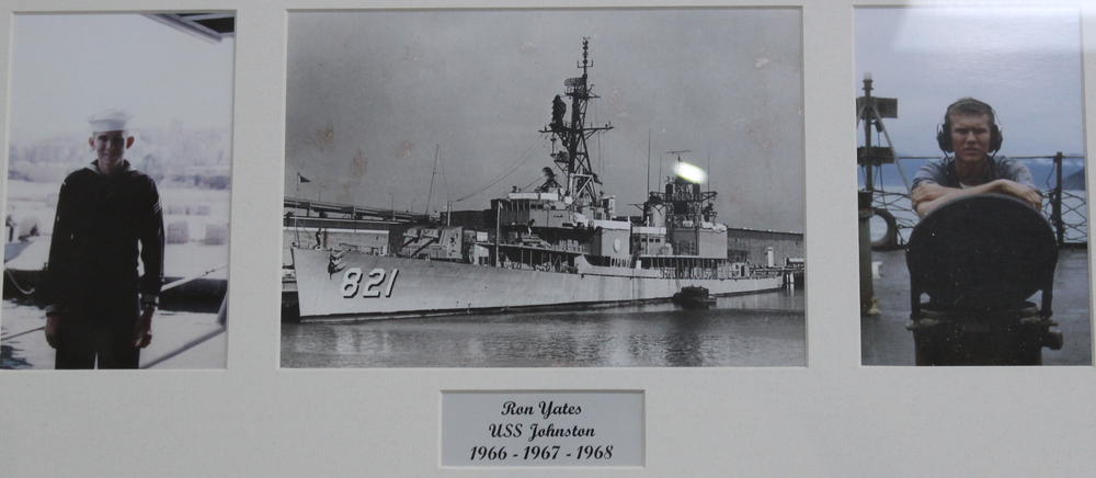 Ron Yates aboard the USS Johnston