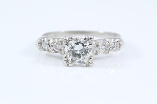 0 81 Ctw I Vs1 Old European Cut Round Diamond Engagement Ring
