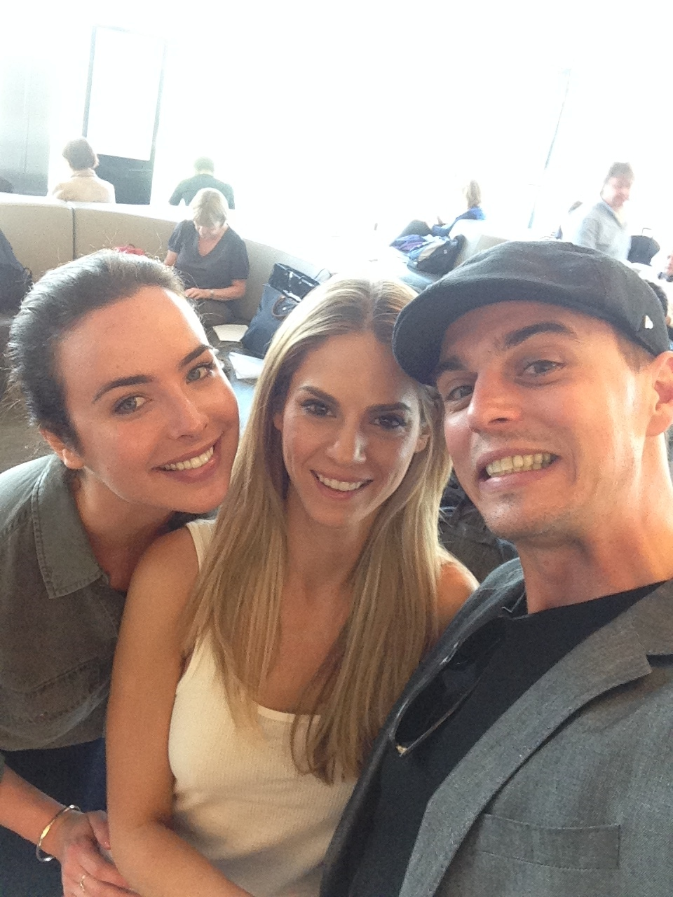 Me, Darin & The lovely Ashleigh Brewer in the lounge at London Heathrow waiting to board our flight to Nice.