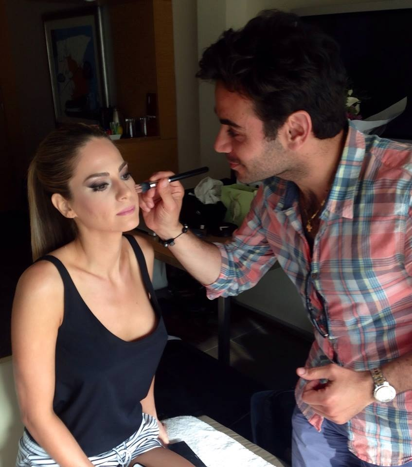 makeup artist Joe ghannam working his magic in 20 minutes!