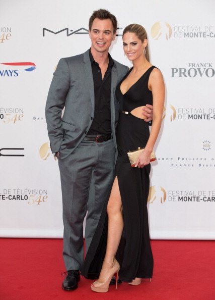 On the red carpet at the opening ceremony for the 54th Monte Carlo TV festival.