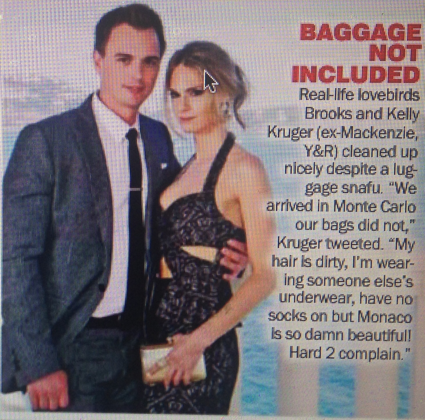 Article in SOD about our lost luggage