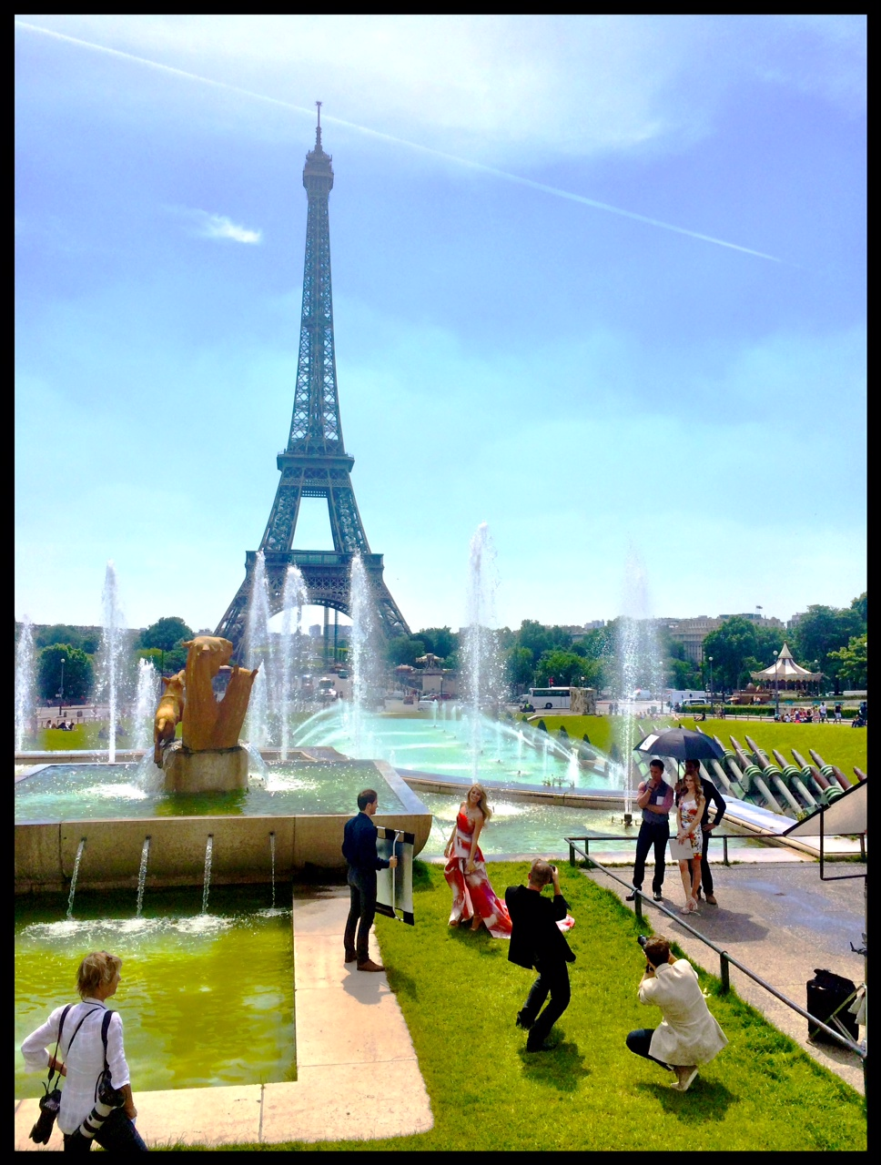 Still of our shoot in Paris in Front of the Eiffel Tower