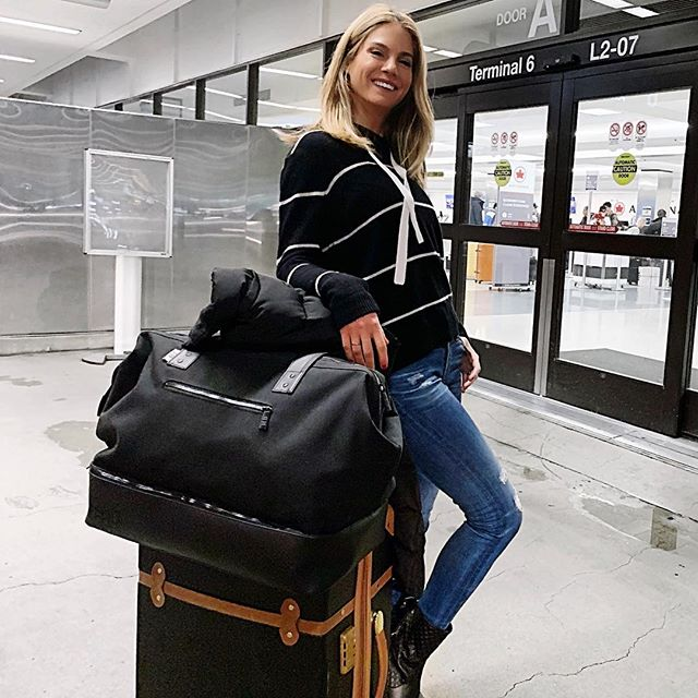 Off to film my last job for 2018!! Can anyone guess where?? That 230am wake up wasn't easy but I'm so excited to work on this show!! Also, I am not being paid to say this. This @beis travel bag is the BEST BAG EVER! Fits my entire world including shoes and sits so comfortably on my shoulder. Will talk more about it on stories cuz I'm seriously impressed. Perfect amount of easy to reach pockets etc. I'm in love!  Thank you @shaymitchell @beis #travel #work #actorslife #bts #traveldiaries ✈️ ❤️