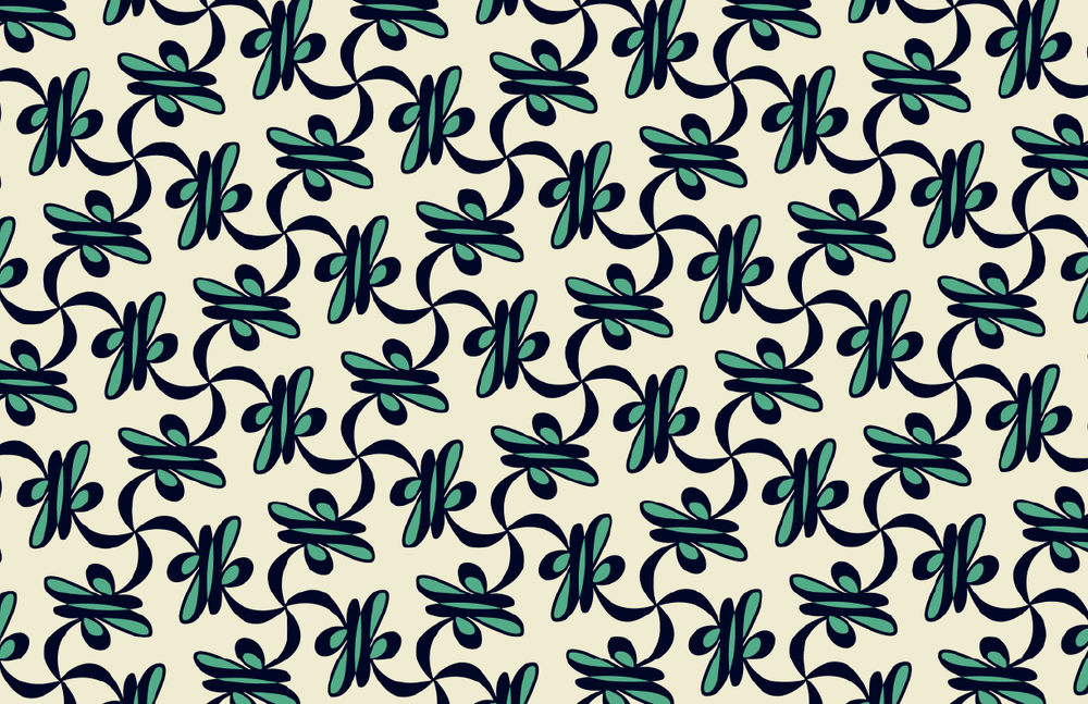 Kacy Print Cream/Navy