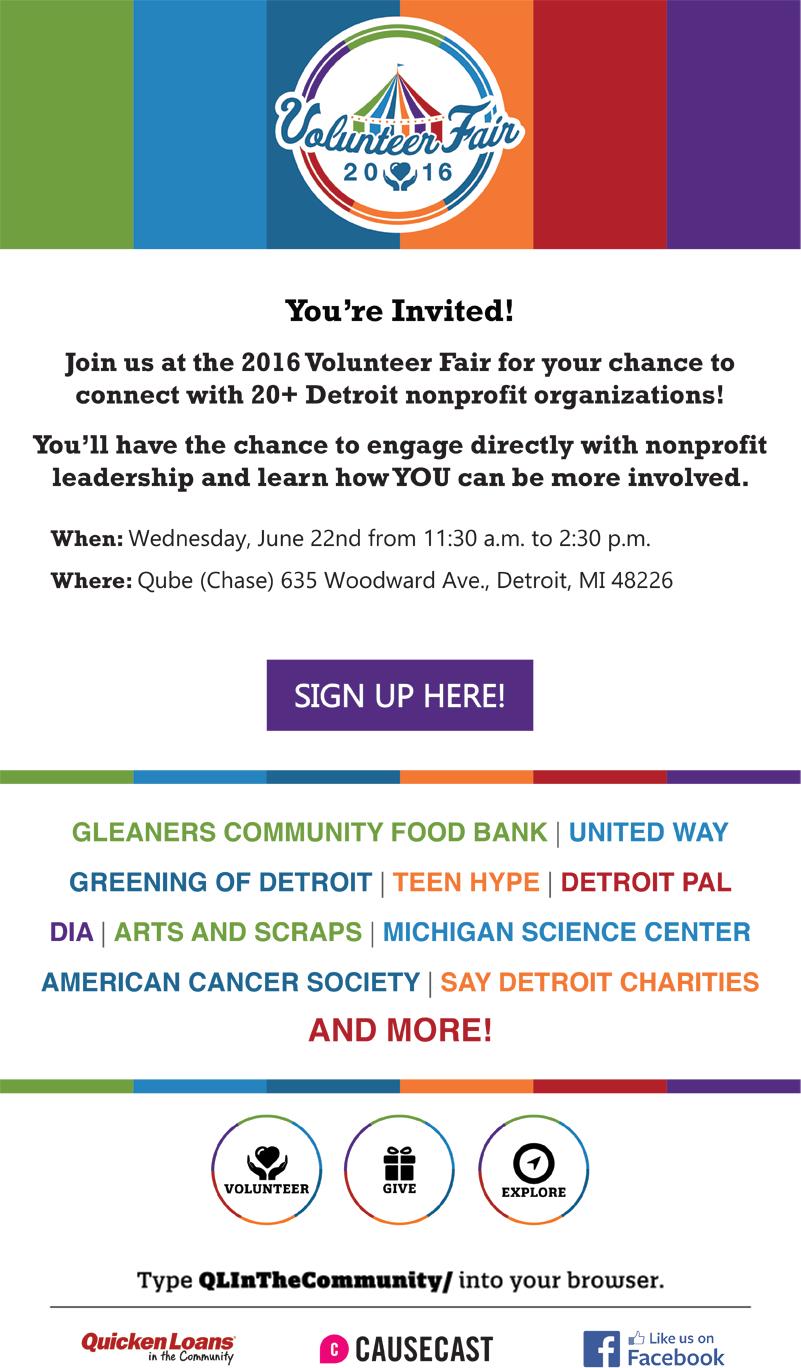 Volunteer Fair Email