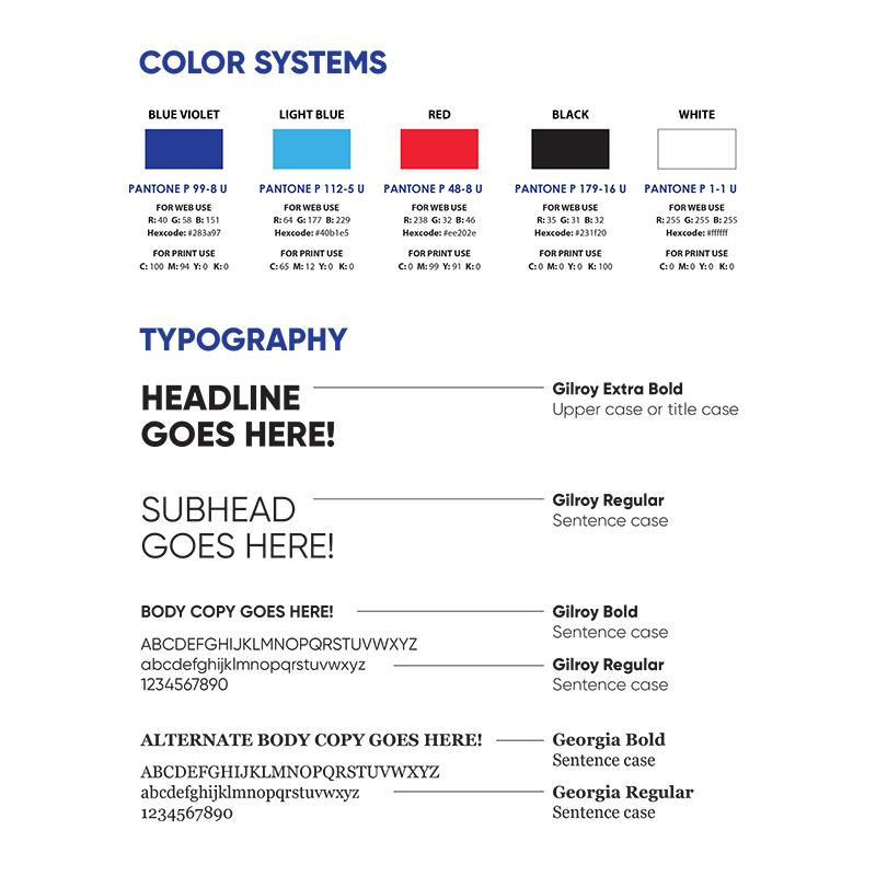 Rock Ventures Rebrand Colors & Typography