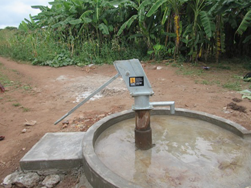 The newly rehabilitated well is ready for the community to use.