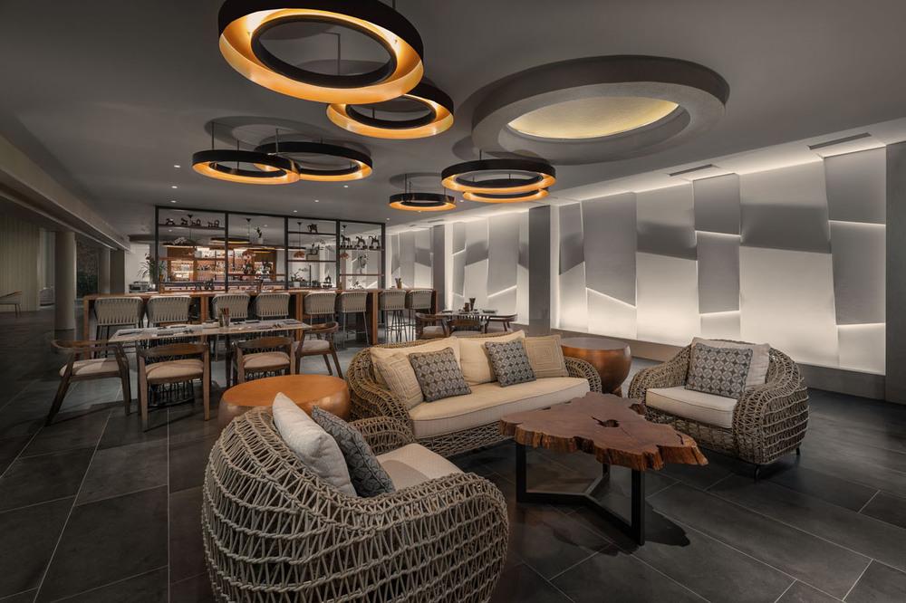 Hospitality hiram banks lighting design copper bar mauna kea beach hotel mozeypictures Images