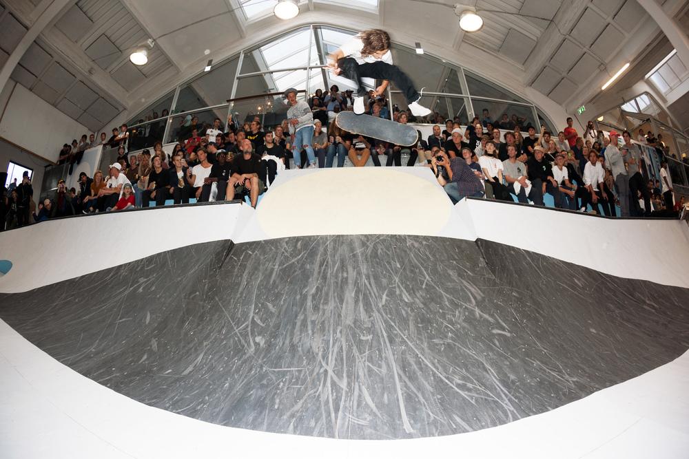 Oskar Rozenberg Kickflip Over The Gap