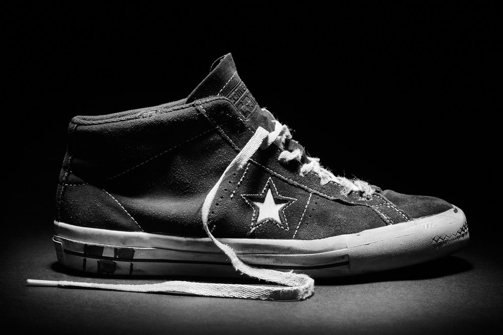 Cons One Star Pro Mid 90´s after a month of skating  → Photo by Roger Ferrero