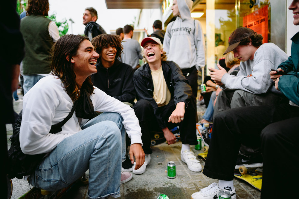 Didrik Galasso, David Jakinda, Ville Wester, Jacopo Carozzi Nike SB Oski Dunk Elite Low Launch
