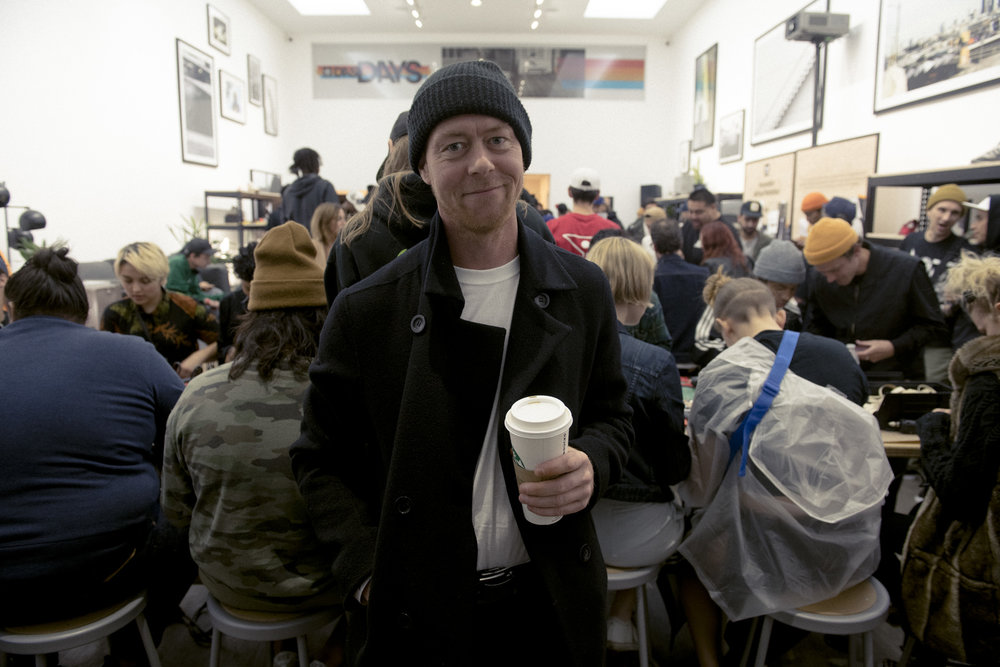 Marc Johnson stops by 3ST launch party